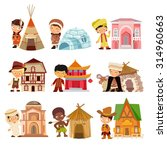 people of various nationalities ... | Shutterstock .eps vector #314960663