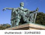 A Statue Of Roman Emperor...