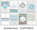 stock vector set of brochures... | Shutterstock .eps vector #314970023