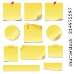 yellow sticky notes. write your ... | Shutterstock .eps vector #314972597