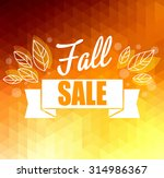 autumn sun triangle vector... | Shutterstock .eps vector #314986367