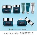 cosmetic packaging  plastic... | Shutterstock .eps vector #314989613