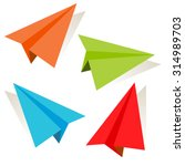 an image of a 3d paper airplane ... | Shutterstock .eps vector #314989703