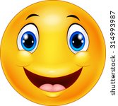 happy smiley emoticon face on... | Shutterstock .eps vector #314993987
