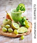 refreshing green detox smoothie ... | Shutterstock . vector #314996273