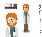 profession concept  health... | Shutterstock .eps vector #314997983