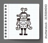 robot doodle | Shutterstock . vector #315004043