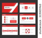 red multipurpose infographic... | Shutterstock .eps vector #315005963