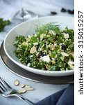 kale and quinoa salad with dill ... | Shutterstock . vector #315015257