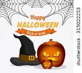 happy halloween festival party... | Shutterstock .eps vector #315022253