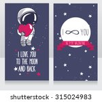 Cute Cosmic Cards For Valentin...