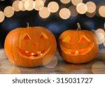 holidays  halloween and... | Shutterstock . vector #315031727