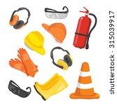 vector safety equipment | Shutterstock .eps vector #315039917