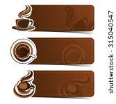 banner set of vintage coffee... | Shutterstock .eps vector #315040547