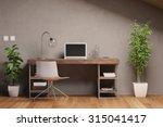 laptop computer with empty... | Shutterstock . vector #315041417