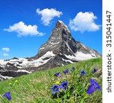 beautiful mountain matterhorn...