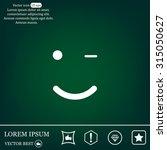 face sign icon  vector... | Shutterstock .eps vector #315050627