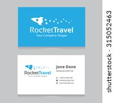 rocket travel logo and business ... | Shutterstock .eps vector #315052463