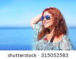image of red haired plus size... | Shutterstock . vector #315052583