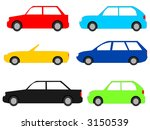 colourful cars with assorted... | Shutterstock .eps vector #3150539