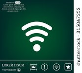 wi fi  web icon. vector design | Shutterstock .eps vector #315067253