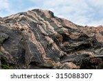 pattern in a granite rock | Shutterstock . vector #315088307