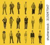 diverse people happiness... | Shutterstock . vector #315097547
