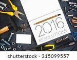 2016  new year resolutions... | Shutterstock . vector #315099557