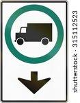 regulatory road sign above lane ... | Shutterstock . vector #315112523