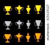 awards pixel icons set. old... | Shutterstock .eps vector #315115127