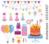 big set of celebratory... | Shutterstock . vector #315115427
