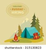 summer hiking   vector... | Shutterstock .eps vector #315130823