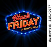 black friday retro light frame. ... | Shutterstock .eps vector #315140177