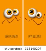 funny halloween greeting card... | Shutterstock .eps vector #315140207
