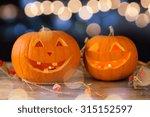 holidays  halloween and... | Shutterstock . vector #315152597