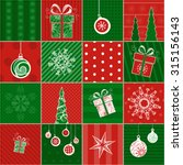 christmas wrapping paper.... | Shutterstock .eps vector #315156143