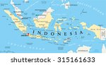 indonesia political map with... | Shutterstock .eps vector #315161633