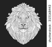 lion ornament ethnic vector... | Shutterstock .eps vector #315168443
