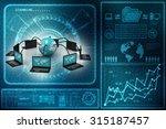 computer network | Shutterstock . vector #315187457