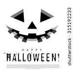 Stock vector halloween background with pumpkins lantern vector illustration 315192233