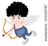 cute little cupid aiming an... | Shutterstock .eps vector #315193787