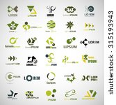 unusual icons set   isolated on ... | Shutterstock .eps vector #315193943