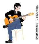 young musician playing the... | Shutterstock .eps vector #315204803