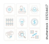 set of bitmap business icons... | Shutterstock . vector #315216617