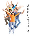 happy funny jumping people.... | Shutterstock . vector #31522234