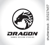 dragon vector logo template. | Shutterstock .eps vector #315227657