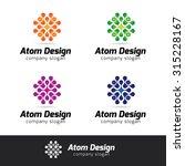 atom design vector logo... | Shutterstock .eps vector #315228167