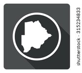 botswana map dark sign icon....