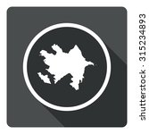 azerbaijan map dark sign icon....