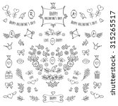 the set of hand drawn... | Shutterstock . vector #315265517